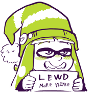 green boy holding lewd sign