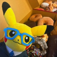 pikachu with glasses