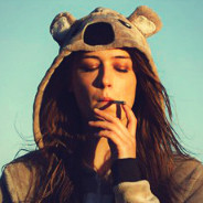 koala onesie smoking girl